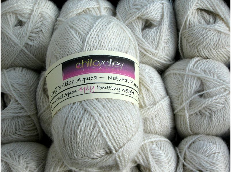Clotted Cream - Chilla Valley Alpaca 4ply