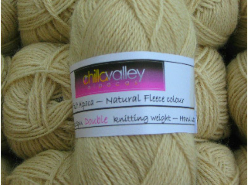 Honey - Chilla Valley Alpaca Double Knitting Yarn