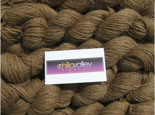 Milk Chocolate - Chilla Valley 100% Alpaca Aran Yarn