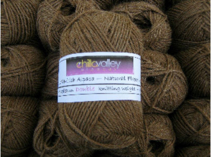 Milk Chocolate - Chilla Valley Alpaca Double Knitting Yarn